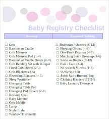 baby registery sle baby registry checklist 7 documents in pdf excel