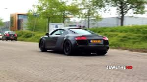 audi r8 matte black loud matte black audi r8 v8 w larini exhaust acceleration sounds