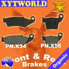 front rear brake pads honda crf 450 r x 2002 2010 2011 2012 2013