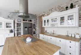 Kitchen Island Chopping Block I Love This White With Dark Floor And Butcher Block Counter