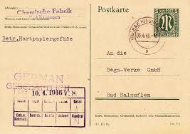 Post Bad Salzuflen Philaseiten De Alliierte Besetzung Notmaßnahmen Ab 1945
