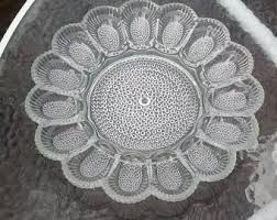 glass deviled egg plate indiana glass egg plate