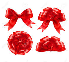 set of gift bows with ribbons vector illustration eps 10