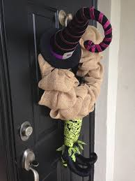 Halloween Wreath Witch Legs My Creative Wife Giselle U0027s Halloween Burlap Wreaths U2013 Daniel Timiraos