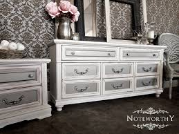 Silver Painted Furniture Bedroom Hollywood Regency White And Silver Metallic Buffet Dresser