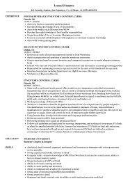 resume templates word accountant trailers plus peterborough inventory control clerk resume sles velvet jobs