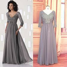 mothers dresses for wedding three quarters sleeves dress custom made v neck pleated