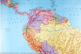 South America Map Physical by Printable Map Central South America World Map North America Map