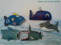recycled paper roll shark craft idea official blog for u2013 nature
