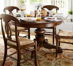 Rustic Kitchen Table Sets Sofa Cool Rustic Round Kitchen Tables 42quot Lander Oak