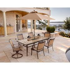 dining room table with swivel chairs fontana 7 piece dining set with two swivel rockers four dining