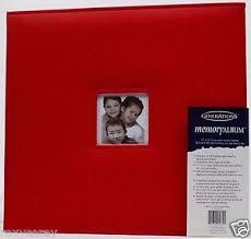 Scrapbook Albums 12x12 Generations 12x12 Red Faux Leather Memory Scrapbook Album Top