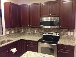 Ideas For Kitchen Backsplash Interior Kitchen Stone Backsplash Ideas With Dark Cabinets Small