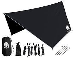chill gorilla hex hammock rain fly tent tarp waterproof camping shelte
