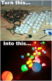 How To Hang Christmas Lights by How To Ping Pong Ball Lights Ball Lights Lights And Craft