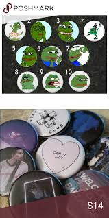 Meme Buttons - pepe the frog meme buttons custom buttons frogs and meme