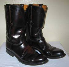 lucchese s boots size 9 lucchese size 9 ee roper black cherry kangaroo mens boots ebay