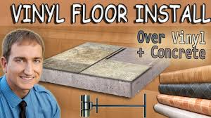 how to install vinyl sheet flooring existing vinyl and