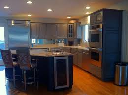 Can You Refinish Kitchen Cabinets How To Refinish White Laminate Kitchen Cabinets Monsterlune