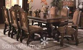 new furniture formal 9 piece renae dining room set table w 2