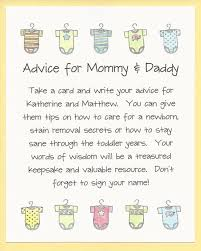 to be advice cards baby shower advice cards 25 best ba shower advice ideas on