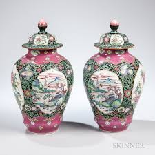 urns for sale pair of samson type chinoiserie urns sale number 3031b lot