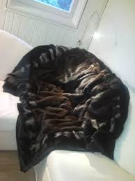Furry Blanket From Old Fur Coats Like Pinterest Fur Coat Fur And Pillows