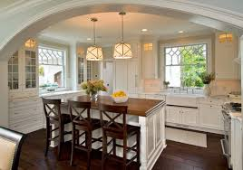 cuisine avec ilot central pour manger modèle cuisine avec îlot centrale blanc deco maison moderne