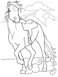 coloring pages of barbie and horse 22385 bestofcoloring com