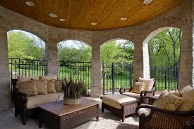 patio fences ideas patio traditional with hanging baskets paver