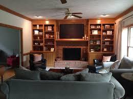 painting built in bookcases honey oak built in bookshelves