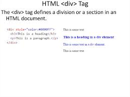 html div tag introducing the world wide web presentation