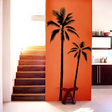 home decor trees set of 2 palm tree vinyl decal wall art wall stickers no