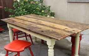 how to make a wooden table top how to turn a farm table to a plank table