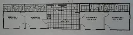 4 Bedroom Single Wide Floor Plans Floorplans Man Camps Oilfield Housing Singlewides And Doublewides