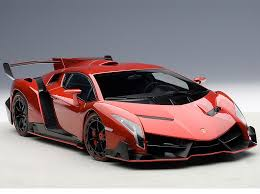 Lamborghini Veneno Red - 74508 lamborghini veneno 1 18 model car in red by autoart