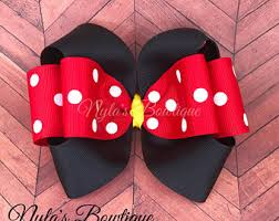 minnie mouse hair bow minnie hair bow etsy