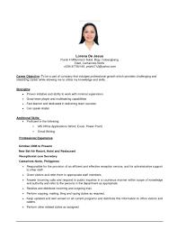 basic resume exles 2017 philippines sle career objectives in resume resume exles 2017