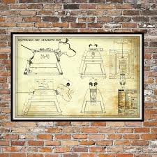 dr who k 9 k9 robotic unit print poster dr who blueprint