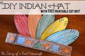 diy indian hat with free printable cut out the diary of a real