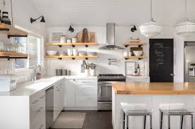 How And Why To Combine Open Shelves And Cabinets In Your Kitchen - Kitchen shelves and cabinets