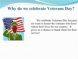 why do we celebrate veterans day what is veterans day its facts