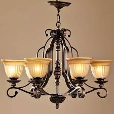Traditional Lighting Fixtures Lnc 6 Light Traditional Chandeliers Rubbed Bronze Glass Shade