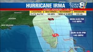 hurricane irma eye of storm continues passing north of puerto