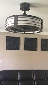 brette 23 in led indoor outdoor brushed nickel ceiling fan hdc am382a orb brette 23 led indoor outdoor espresso bronze ceiling