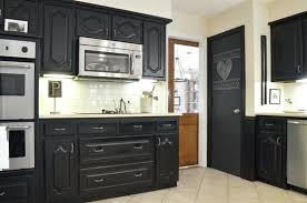 How To Paint Kitchen Cabinets Black Painting Kitchen Cabinets With Chalk Paint Bloomingcactus Me
