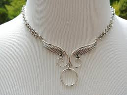 wear collar necklace images 24 7 wear discreet symbolic o ring day collar necklace with angels jpg