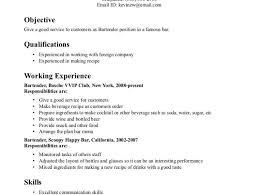 Famous Resumes Sample Bartender Resumes Bartender Resume
