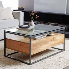 coffee table coffee table with storage wheels cube ottomans