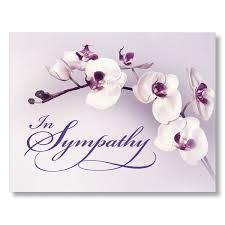 sympathy card purple orchid sympathy card